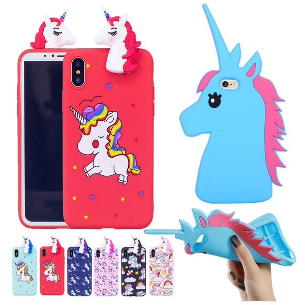 Picture of For Iphone 7 7 Plus Samsung Galaxy S7 S7 Edge 3d Cute Unicorn Cartoon Rubber Silicone Soft Case Cover For Iphone 5s Se 6 6 Plus Samsung Galaxy S3 S4 S5 S6 S6 Edge S7 S7 Edge