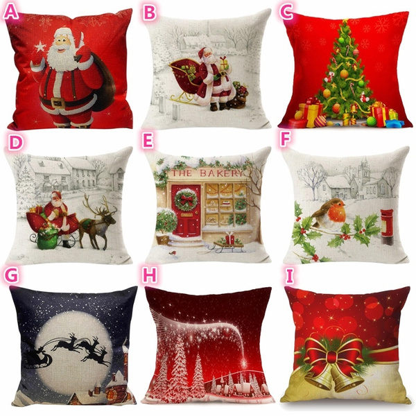 christmaspillow, Home Decor, Santa Claus, Tree