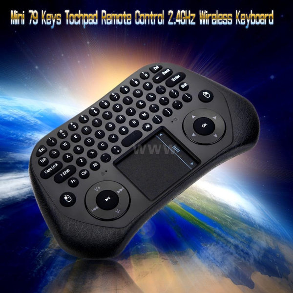 Picture of Mini Portable 2.4ghz Wireless Keyboard Touchpad Mouse Air Mouse With Usb Receiver For Tv Box Pc Laptop Tablet Projector Of Windows Android Ios Size 14.7cm By 6.5cm By 2.0cm Color Black