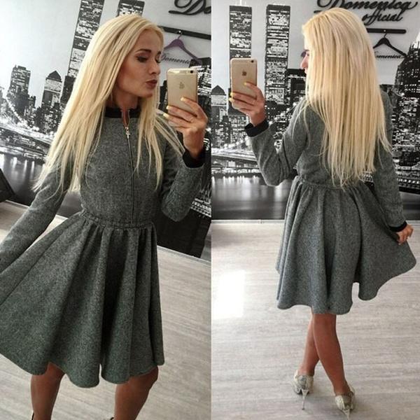 Wish - HODMEXI™ New Arrival Casual Women Vintage Winter Dress Long ...