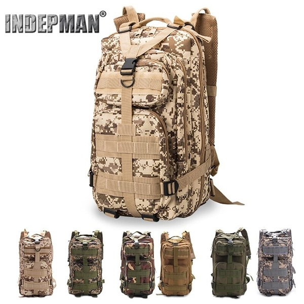 Picture of 1000d Waterproof Nylon Travel Tactical Backpack Military Camping Hiking Rucksacks