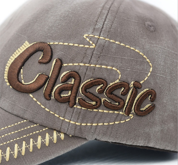 Men's Women's Retro Sports Adjustable Letters-Pattern Golf Hiking Baseball-Caps