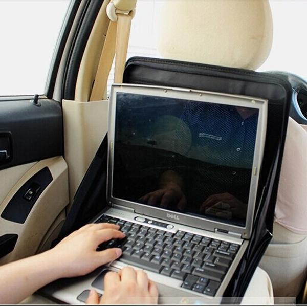 Portable Car Back Seat Laptop Mount Holder Car Laptop Tray Table  Multifunction Computer Rack Food Work Desk