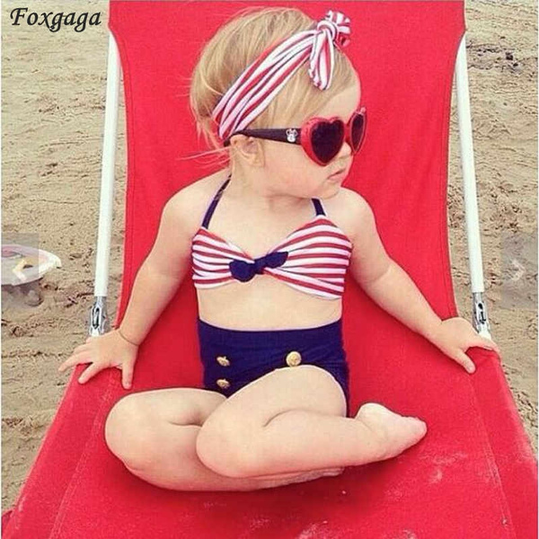 9a0b56889a Cute Child bikini swimsuit swimwear high waisted bathing suit for ...