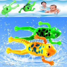 For Baby kids Bathroom Tub Bathing Toy Clockwork Wind UP Plastic Bath Frog Pool