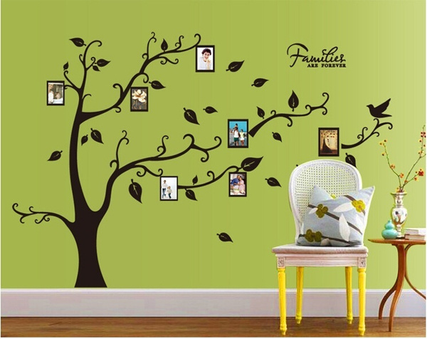 Wish | Home Decor Family Tree Wall Stickers DIY Wall Stickers Photo ...