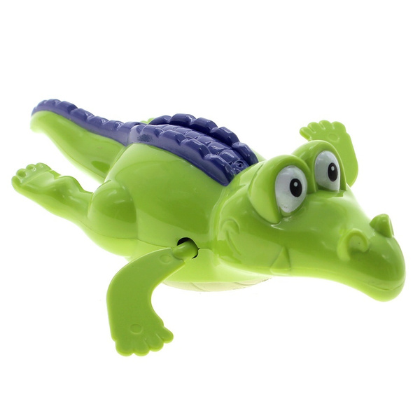 Cute Turtle/Crocodile/Shark Swim Animal Wound-up Chain Clockwork Baby Kid Bathing Toy For Bathroom Gift