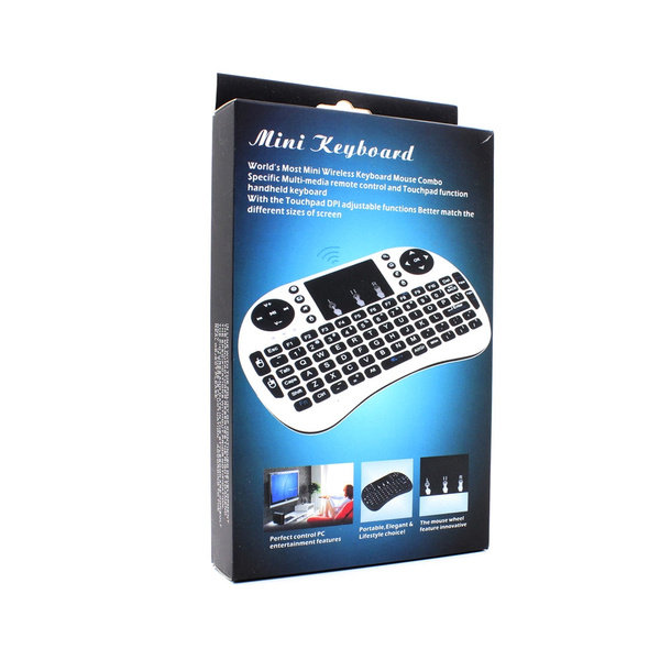 Rii mini i8 Keyboard English Air Mouse Multi-Media Remote Control Touchpad  Handheld for TV BOX PC Laptop Tablet Raspberry PI