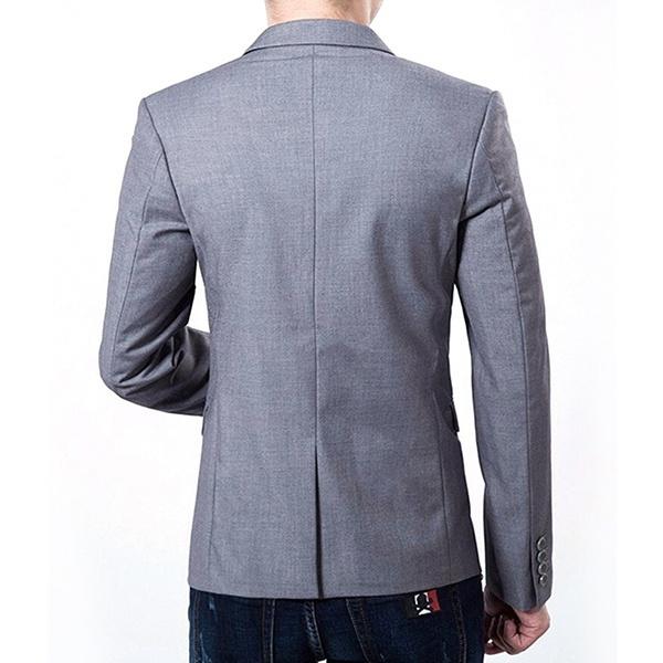 Wish | New Fashion Men Blazer Suit Jacket Cardigan Jacket Male ...
