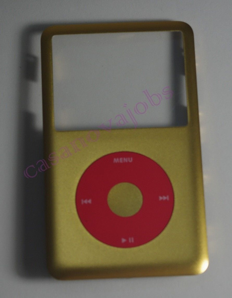 Golden iPod classic front cover+U2 Red clickwheel kit replacement