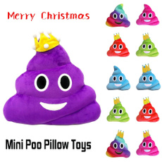 Christmas Gifts Mini Cute Emoji Emoticon Cushion Poo Shape Pillow Doll Toy Throw Pillow Home Office Car Accessories Happy New Year Hot Sale