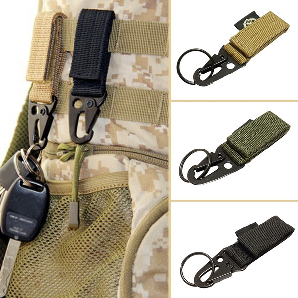 Useful nylon key hook webbing buckle hanging system belt buckle hanging