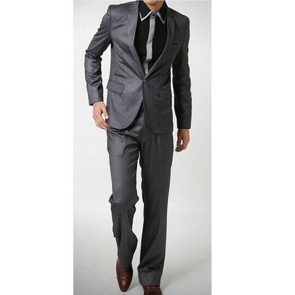 Homme En Costume wish | homme costume veste+pantalon mariage noir/gris taille xs/s/m