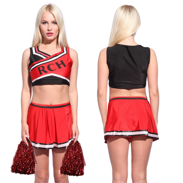 Wish | Ladies Bring it On Style RCH Cheerleader Costume (Size S Color Red u0026 Black)  sc 1 st  Wish & Wish | Ladies Bring it On Style RCH Cheerleader Costume (Size: S ...