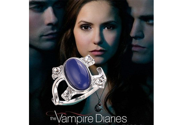 Vampire Diaries Elena's Vintage Opal Wedding Engagement Ring