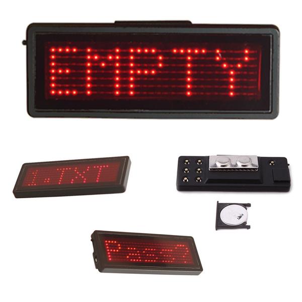 LED Badge Name Tag Scrolling Bar KTV Badge Programmable Message Board