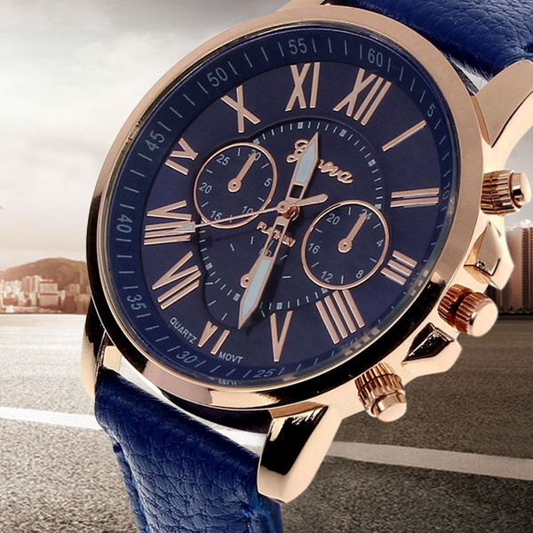 Ladies Christmas Gifts.Christmas Gifts Women Ladies Geneva Roman Numerals Quarzt Wrist Watch 11 Colors Model 9298