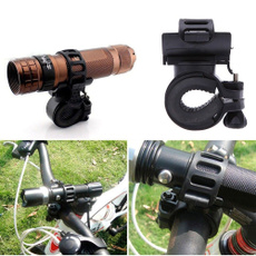 Adjustable Belt 360 Degree Rotatable Bicycle Clamp Flashlight LED Torch Light Holder Mount Bike Cycling Grip