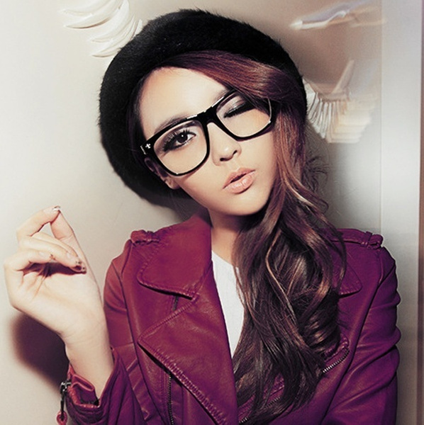 Picture of Selling New Fashion Big Sizetortoise Shell H Retro Nerd Geek Clear Lens Plain Glasses