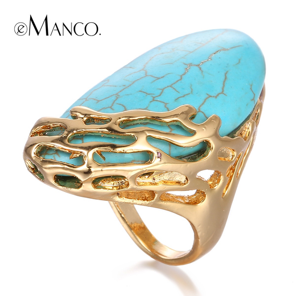 Blues, goldplated, largering, hollowring