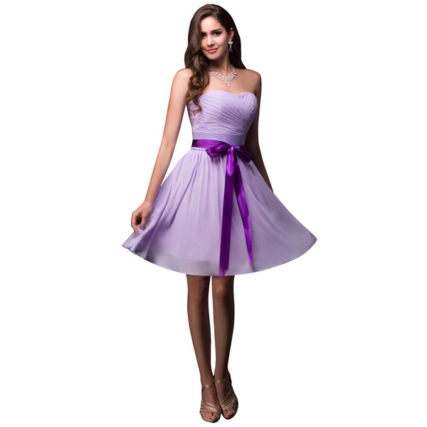 Wish | Strapless Wedding Events Guest Party Dress Purple Bridesmaid ...