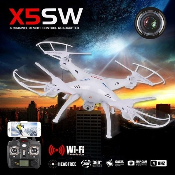 Picture of Syma X5sw Rc 2.4g 6-axis Fpv Quadcopter Drone Helicopter Headless With 2.0mp Camera Wifi Iosandroid Sync Real Time Video