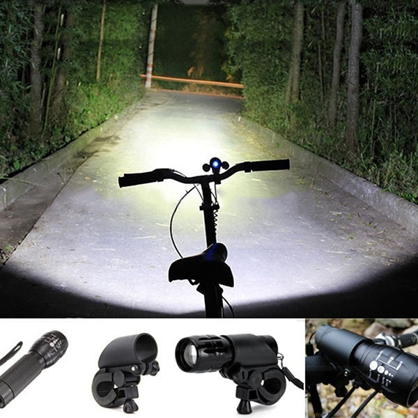 240 lumen Q5  Bike Cycling Bicycle LED Flashlight Front HEAD LIGHT Torch Larm With Mount Bicycle