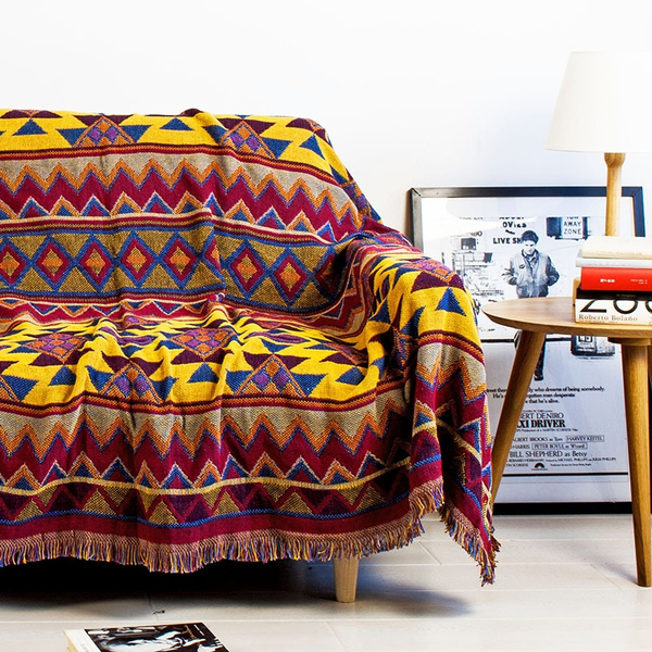 Woven Soft Sofa Blankets Throws Rugs