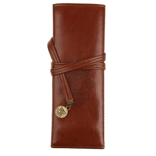Picture of Pu Leather Vintage Pencil Case Bag Pocket Crochet Knitting Needle Hook Case