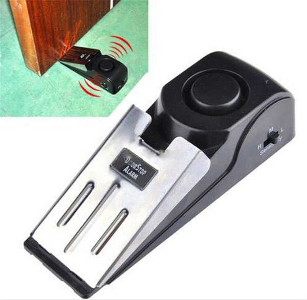 Picture of 120 Db Stop System Security Home Wedge Shaped Door Stop Stopper Alarm Block Blocking Systerm Sclm Ltd.