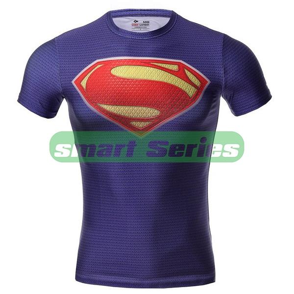 Marvel Superhero Costume T-Shirts Sports Jersey Cycling Tops