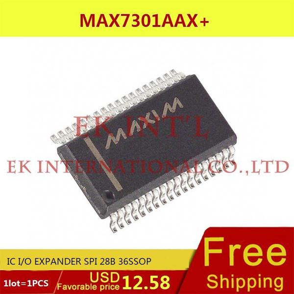 (1PCS) MAX7301AAX IC I/O EXPANDER SPI 28B 36SSOP 7301 MAX7301 7301A