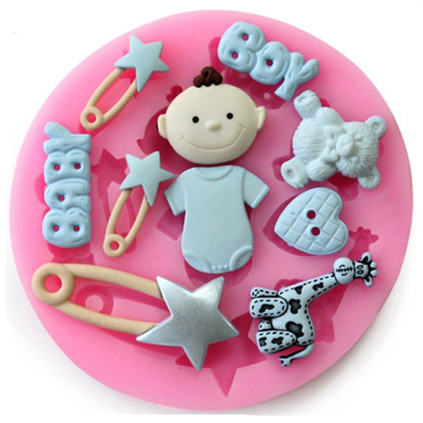 Picture of New Fashion 3d Silicone Baby Pin Diy Mold Sugarcraft Baking Tool Cake Decoration