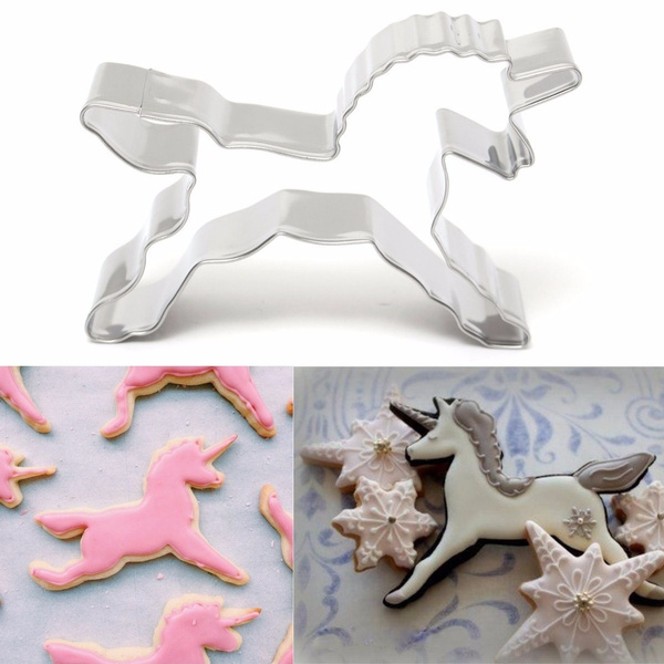 Picture of Silver Cute Unicorn Sugarcraft Cake Decorating Cookies Pastry Mould Baking Tool Color Silver