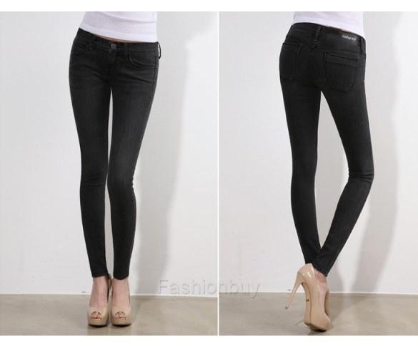 Jeans noir slim femme pas cher