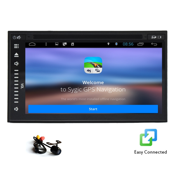 7-Inch Double-DIN Capacitive Touchscreen car stereo DVD CD Player Android  4 4 4 With WIFI Internet Bluetooth GPS navigation USA/Canada/Mexico Map