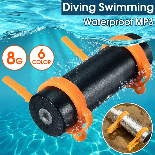 Picture of 6 Color 8gb Ipx8 Waterproof Swimming Diving Surfing Sports Mp3 Player Fm Radio Earphone Gifts