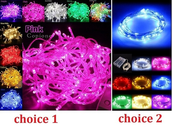 Picture of Eu/us Plug 220v/110v 9colors Led String Fairy Lights Wedding Xmas Party Festival Decoration