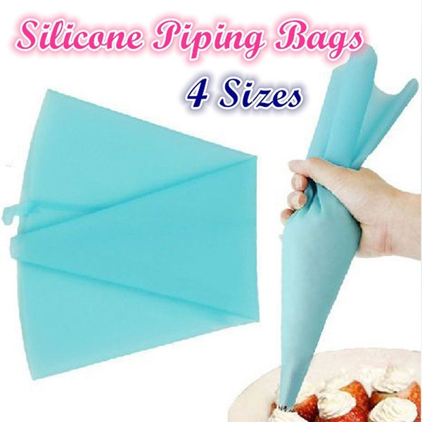 Picture of Reusable Silicone Pastry Bag Icing Piping Bags Cream Cake Bake Decorate4size Can Be Choose