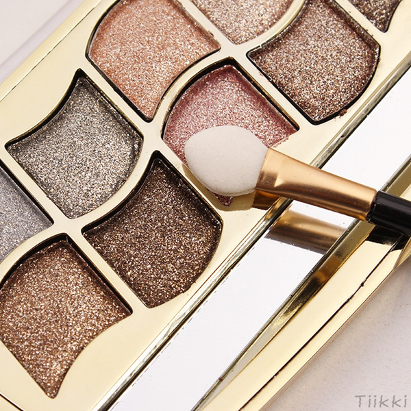 Picture of 12 Colors Diamond Bright Colorful Glitter Eye Shadow Palette Super Flash Waterproof