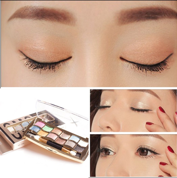 12 colors diamond bright colorful Glitter eye shadow palette super flash Waterproof