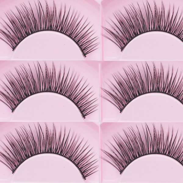 Picture of Natural Sparse Cross Eye Lashes Extension Makeup Long False Eyelashes 5 Pairs Size 5