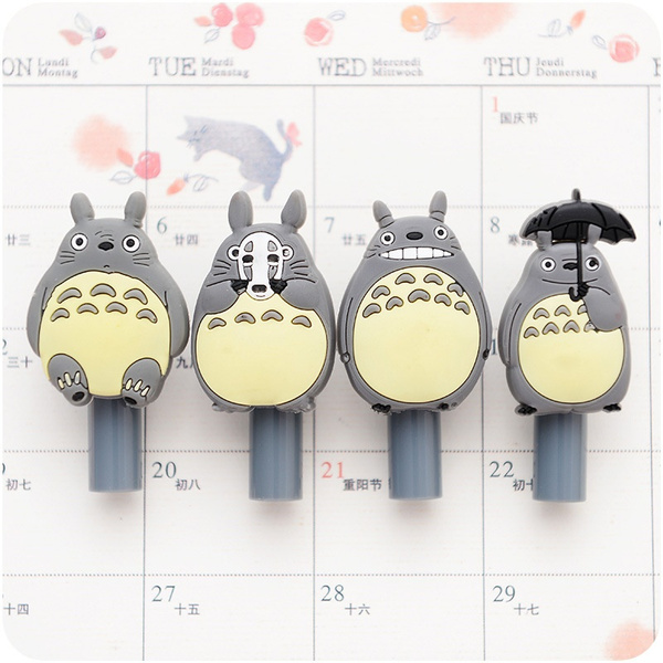 4 pcs/set Korean Creative Cute Resin Totoro Gel Pen Student Stationery