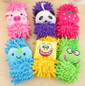 Picture of Soft Animal Cartoon Hanging Towel Microfiber Chenille Hand Drying Washing Gloves For Kids