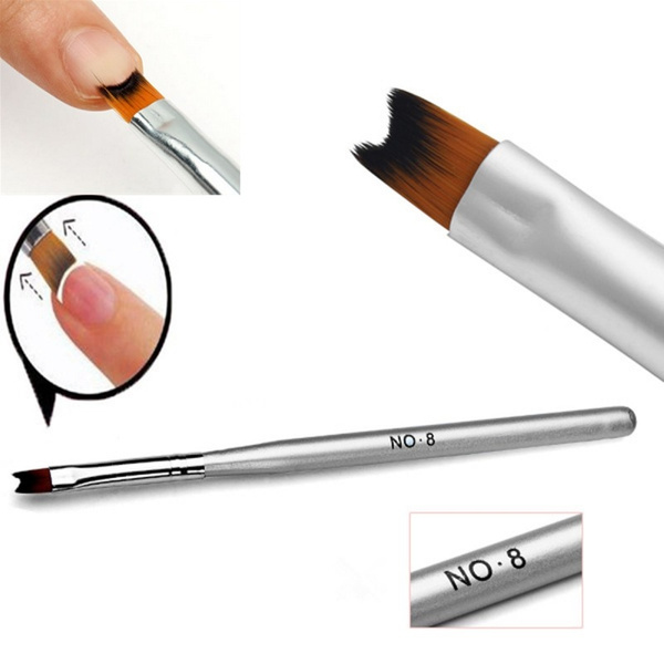 Picture of 1pc Acrylic Nail Painting Drawing Pen Brush French Manicure Nail Art Tool Size 16 Cm