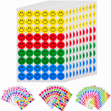540pcs Colourful Round Smile Face Stickers Decal Kids Children Teacher Praise Merit Home Office