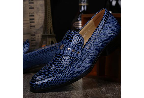 Men Autumn British Style Classic Leather Shoes, Party Shoes &Wedding Shoes Color:Black,Brown,Blue