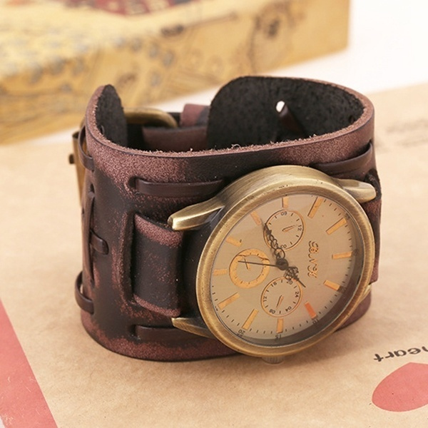 Picture of Sale/ Traditional Vintage/fashion/punk/retro Classical Shape Handmade Leather Bracelet Watch