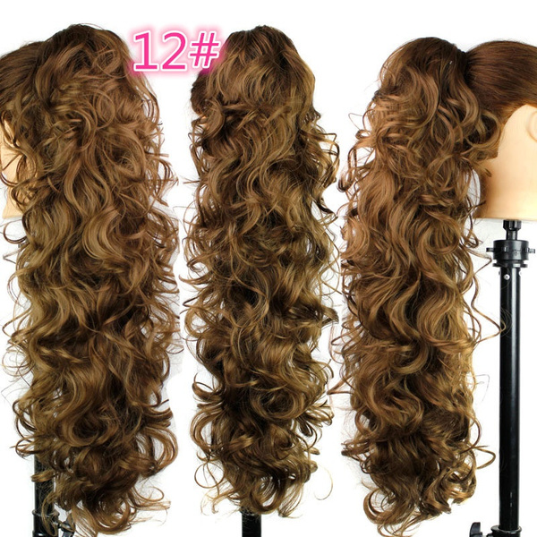 Wish 256 Long Claw Clip Drawstring Ponytail Fake Hair Extensions