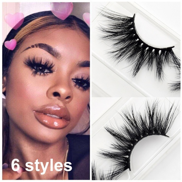 Picture of Thick 5 Pairs Makeup False Eyelashes Long Handmade Eye Lashes Extension